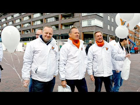 2018 Mark Rutte voert VVD campagne in Amstelveen