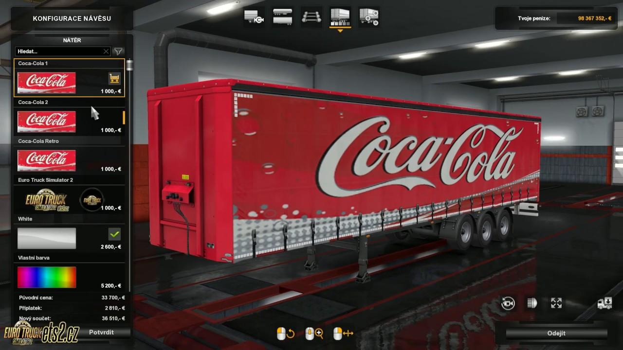 [ETS2] Coca-Cola standart Trailer Skin Pack