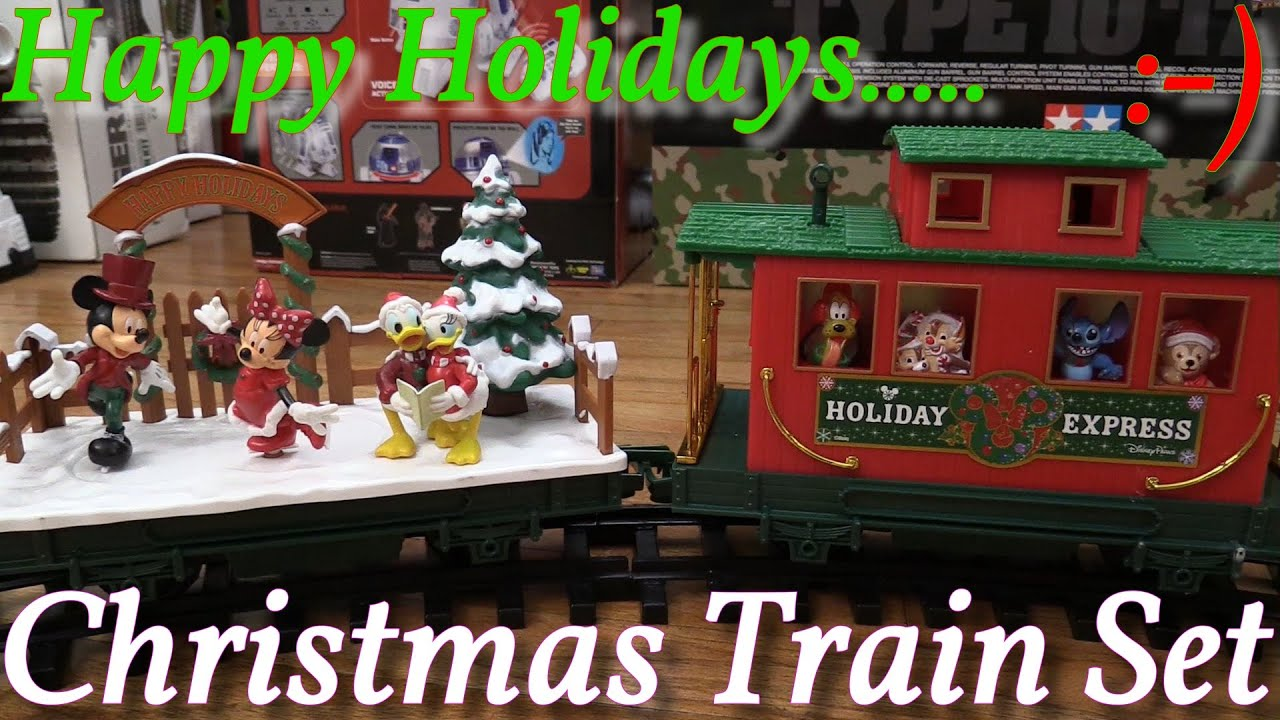 Toy Trains Disney Parks Christmas Train Set Unboxing And