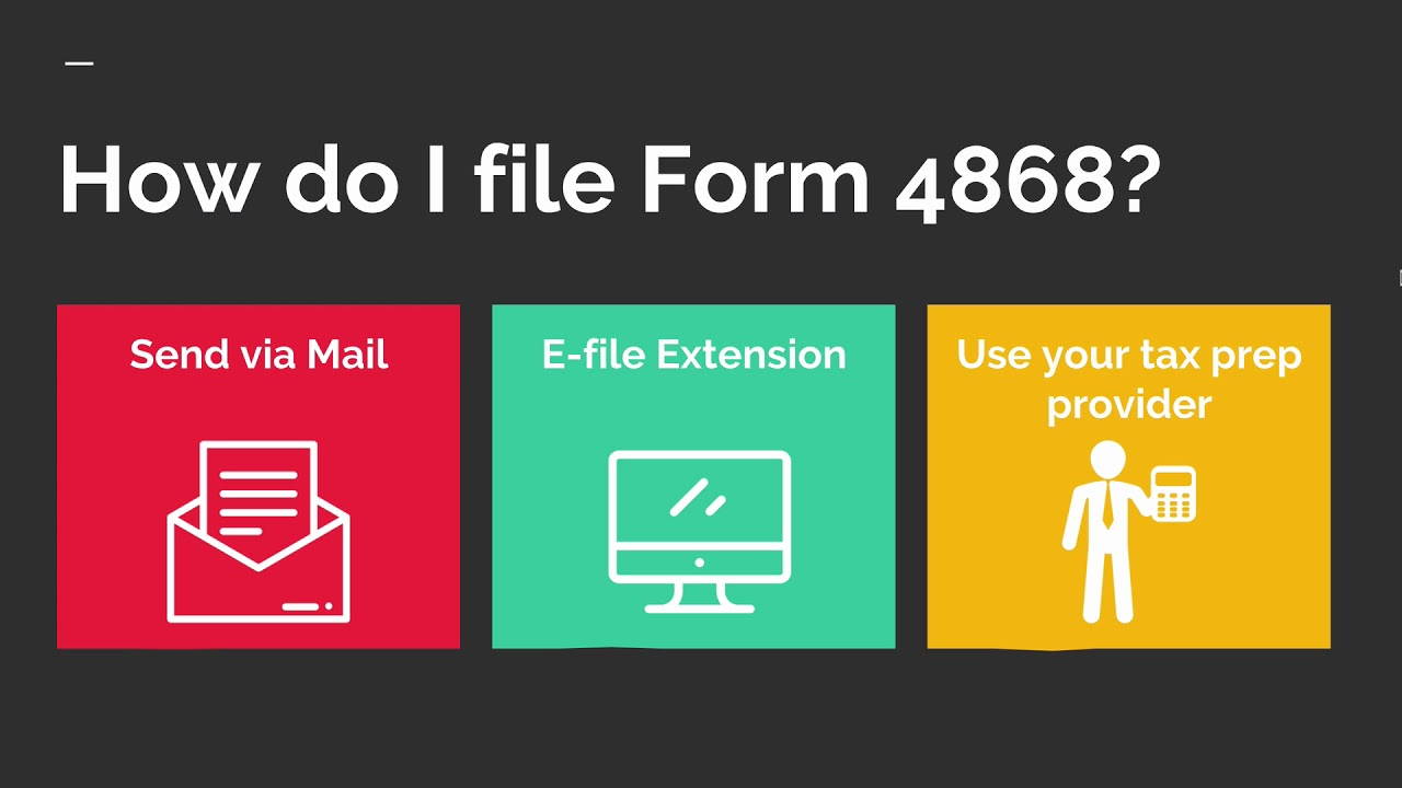 Form 4868 How To File An Extension For Your Taxes Youtube