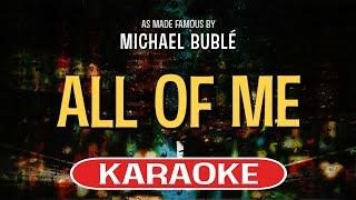 All of Me (Karaoke Version) - Michael Buble