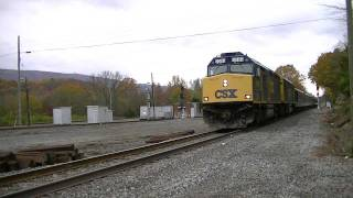 csx 9999 leads csx p901 09 president inspection train in wauhatchie tn