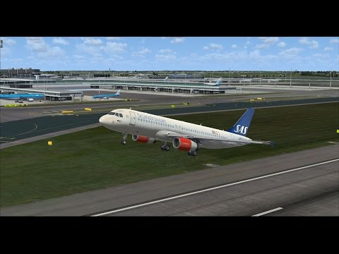 FSX | FSCloud | Amsterdam Return from Longyearbyen | Airbus A320 Scandinavian Airlines