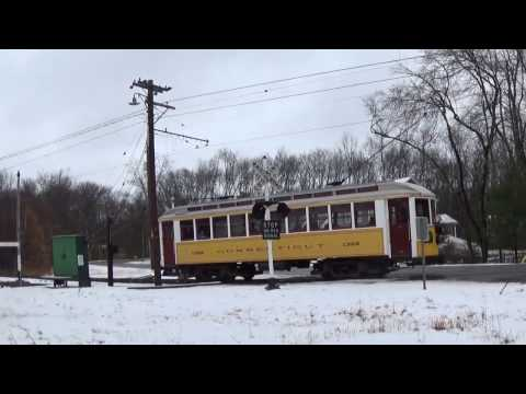 Connecticut Trolley Museum opening day 01/Apr/2017