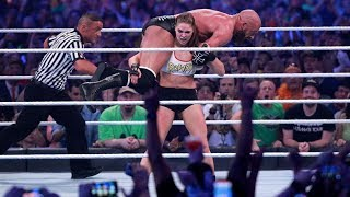 WWE Wrestlemania 34: Kurt Angle and Ronda Rousey vs Triple H and Stephanie McMahon - FULL MATCH
