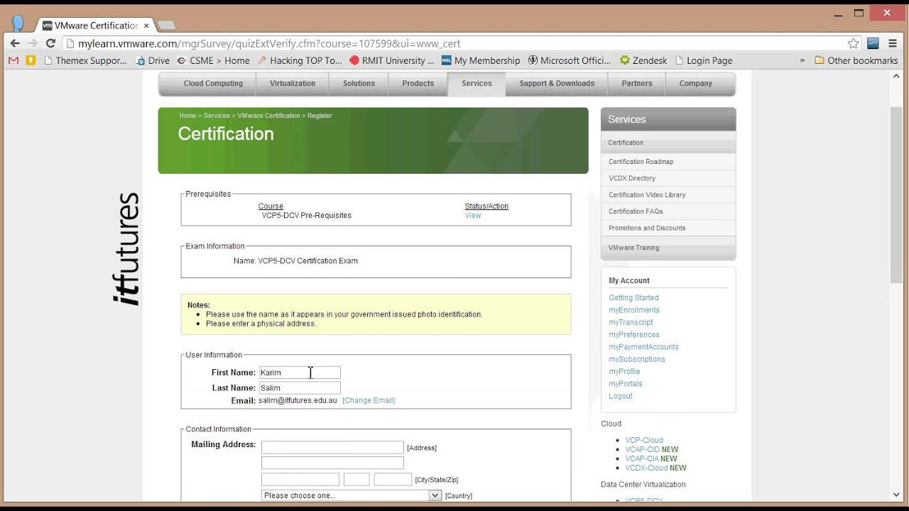 How to register for vmware exams youtube how to register for vmware exams xflitez Choice Image