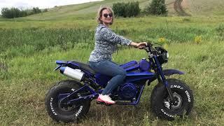 Самодельный мотоцикл с нуля, Homemade bike with fat wheels, часть 5 покатушки
