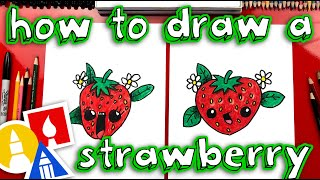 How To Draw A Cute Strawberry
