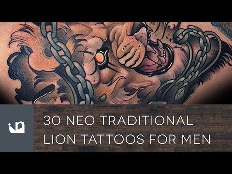 30 Neo Traditional Lion Tattoos For Men