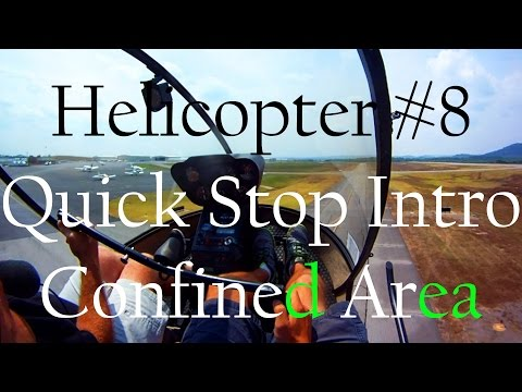R22 Helicopter Training #8 Quick Stop Intro l Confined Area l Slopes