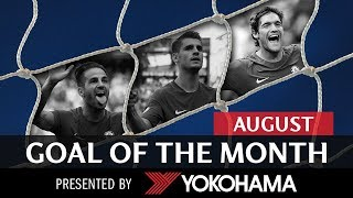 Goal of the month | august | fabregas, morata, alonso!