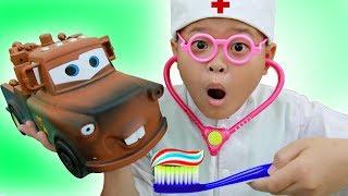 Susu KIDs Tube | Expert helped Susu examine car | Funny Kids.