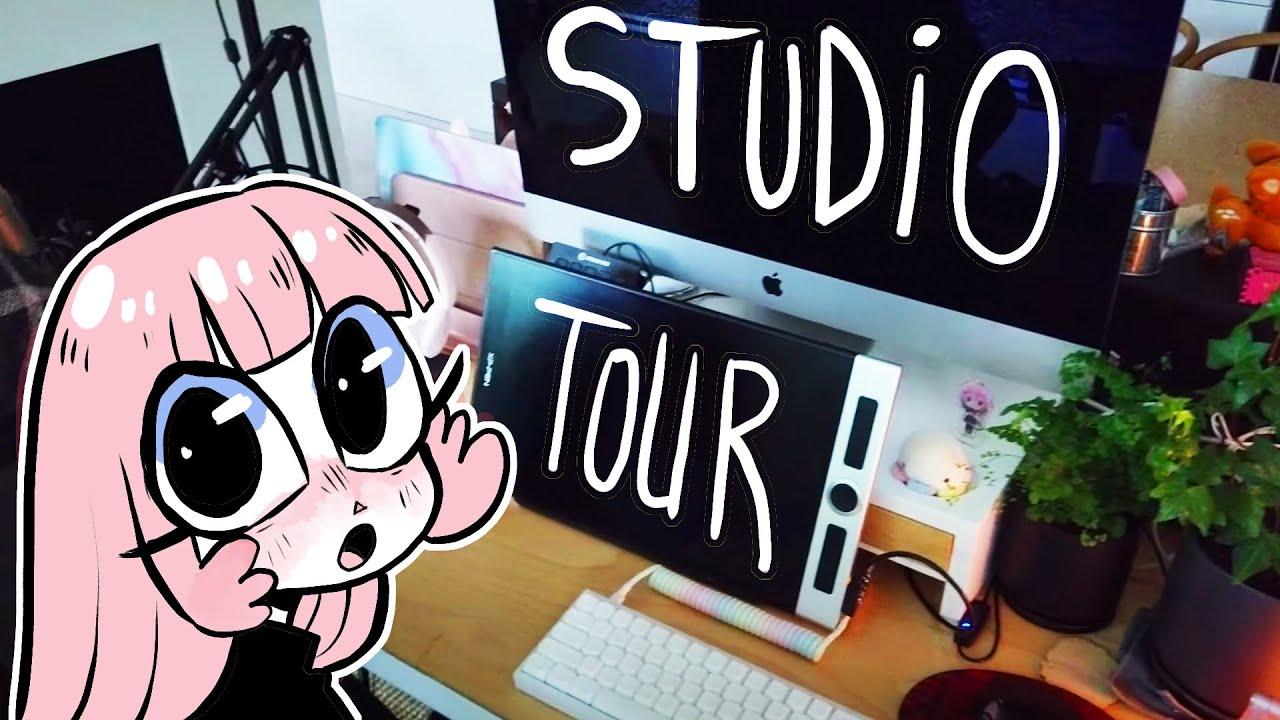LAVENDERTOWNE'S DRAWING STUDIO TOUR [2021 Los Angeles Artist's Room Tour]