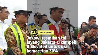 Jokowi resmikan tol layang Japek II Elevated untuk urai kemacetan 30%
