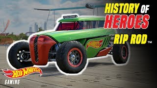 History of Heroes: Rip Rod | Hot Wheels Gaming | Hot Wheels