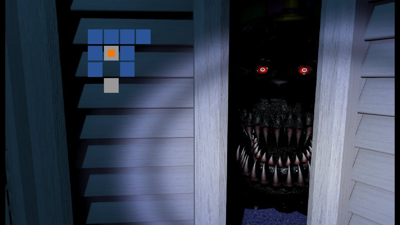 CHEATS: HOUSE MAP ALL NIGHTMARE | Five Nights at Freddy's 4