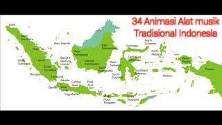 Gambar cover Alat Musik Tradisional Berdasarkan 34 Provinsi  Di Indonesia