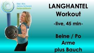 LANGHANTEL-WORKOUT -45 min, li…