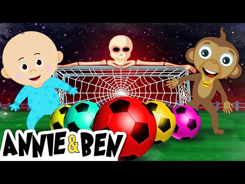 FUNNY BABY VS MANGO MONKEY | Learn Colors With SPOOKY SOCCER BALL Match | Learning Video For Kids