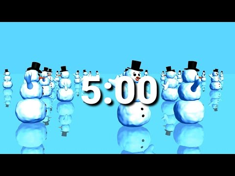 5 Minute Snowman Timer With Christmas Music Animated Youtube