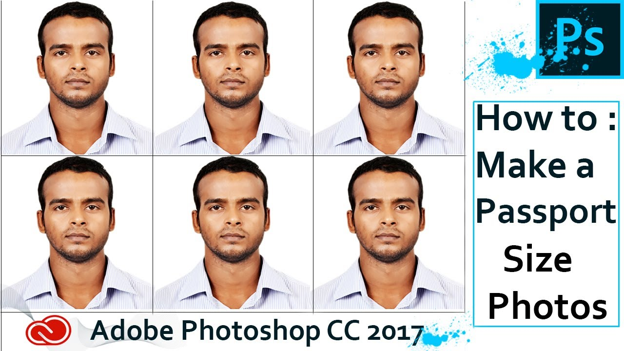 Create Passport Size Photo In Adobe Photoshop CC 2017 One Click