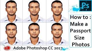 Créer Photo format Passeport dans Adobe Photoshop CC 2017 ( Un seul Clic)