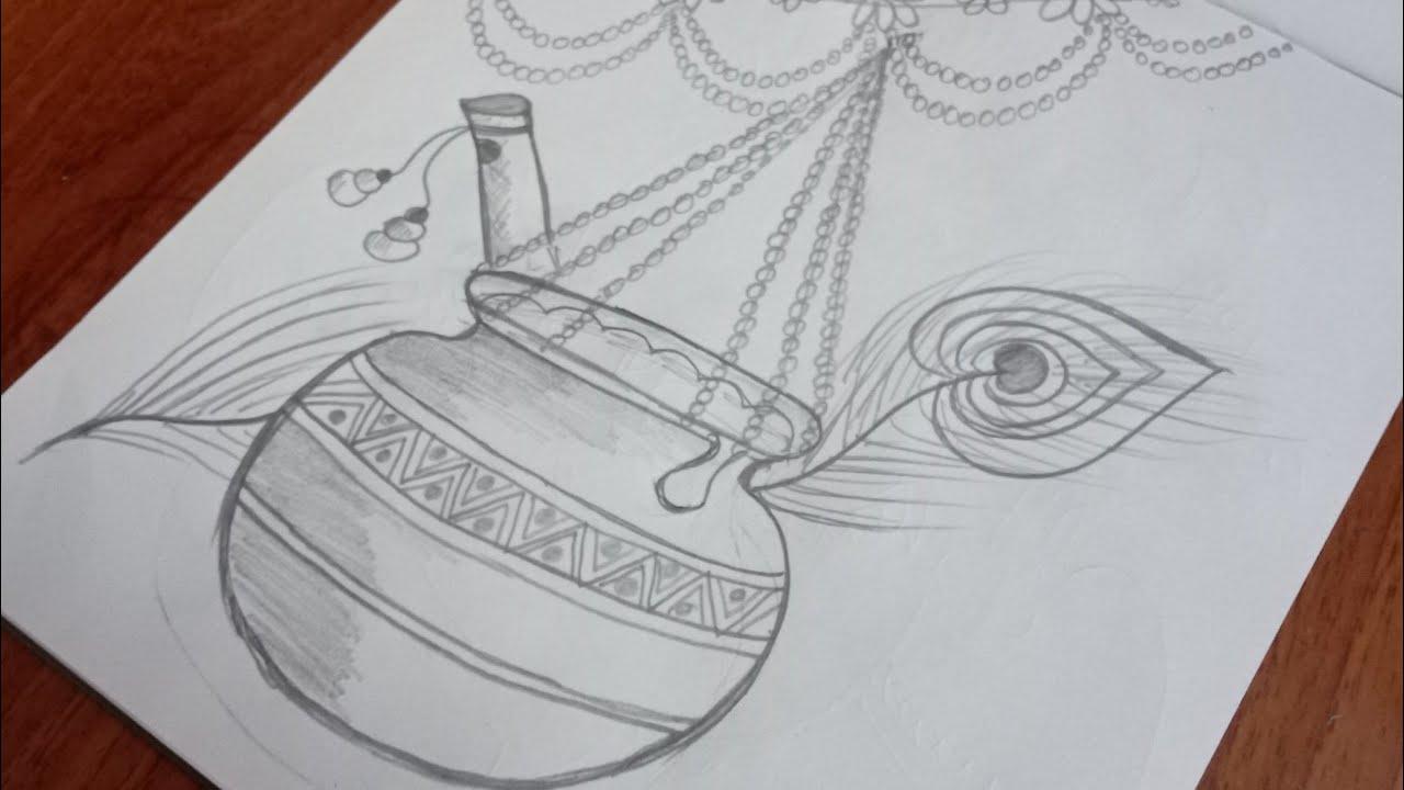 Janmashtami Drawing Easy Janmashtami Drawing Janmashtami Drawing Video Janmashtami Drawing Picture Youtube