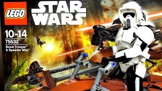 Lego Star Wars 75532 Штурмовик-разведчик на спидере Обзор набора Лего Звёздные войны 2017 новинка
