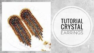 #МК - Серьги из хрусталя | #Tutorial - Crystal earrings