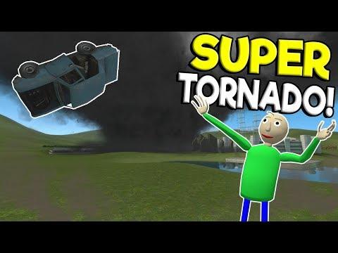 SUPER TORNADO & TSUNAMI DESTROY ENTIRE CITY! - Garry's Mod Sandbox Gameplay - Gmod Tornado Survival