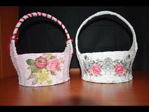 How To Make Fruit Basket From Old Newspapers || DIY || Newspaper Weaving || Christmas Gift Basket