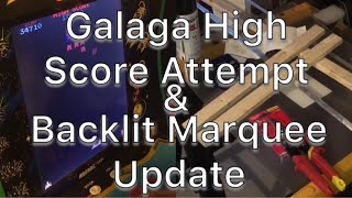 Arcade1Up Mod Life - Galaga Gameplay and Backlit Marquee Update