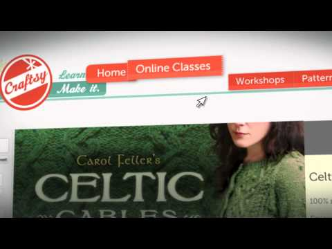 How To Knit Celtic Cables, an Online Knitting Class with Carol Feller on Craftsy.com