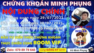 Chứng khoán 29/07 Minh Phụng ✅ Nhận định thị trường ngày 30/07| Phân tích top cổ phiếu VND HSG HAH