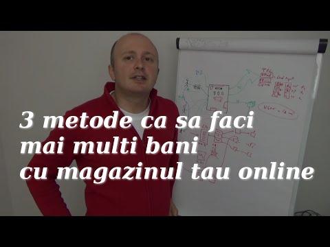 Curs online - 3 metode sa faci (mai multi) bani cu magazinul tau online #01/2016