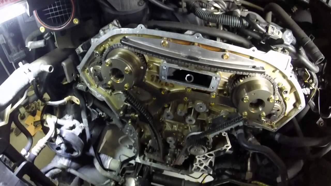 2000 Nissan Xterra Engine Diagram Aprilaire 760 Wiring Vq40de Timing Chain Replacement - Youtube