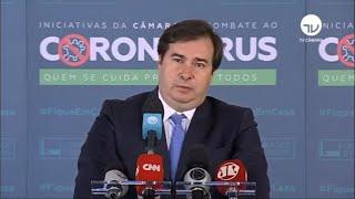 Destaques - Agosto 2020 - Coletiva - Maia fala sobre encontro com Bolsonaro - 13/08/20 - 11:30