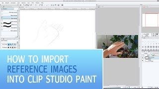 How To Import Reference Images Into Clip Studio Paint (Manga Studio) | Clip Studio Paint Tutorial