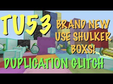 MINECRAFT XBOX / PS - TU53 - DUPLICATION GLITCH - SHULKER BOX - THE BEST EVER GLITCH! - ALL ITEMS