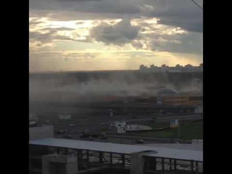 Пожар в ТРЦ на дмитровском шоссе, Москва