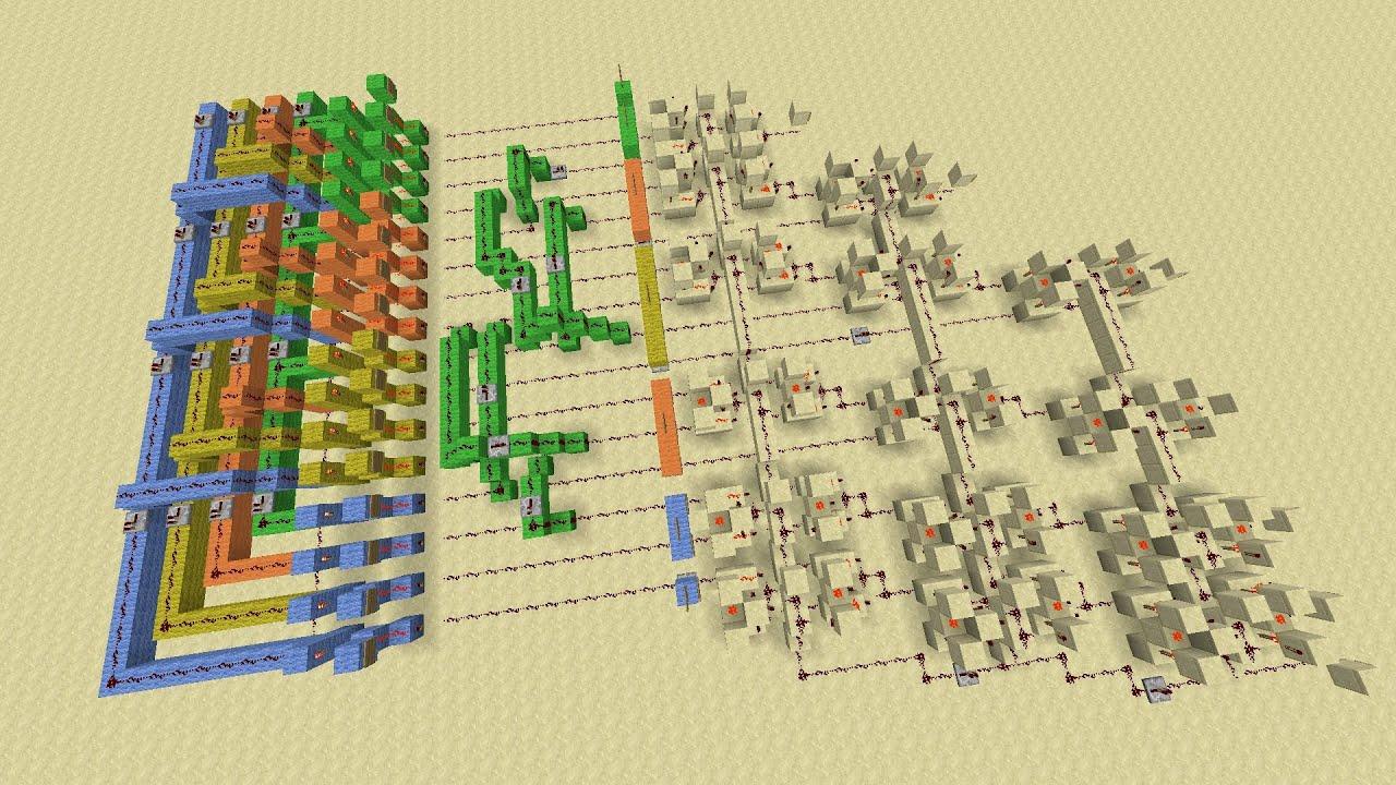 Minecraft Binary Multiplier Tutorial