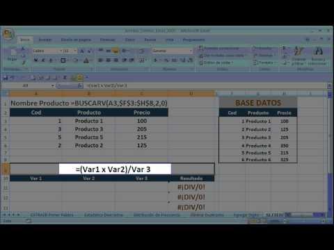 Eliminar Errores en Formulas EXCEL 2007