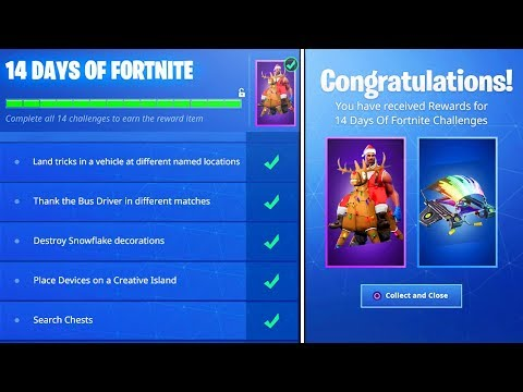 Finish ALL 14 Days of Fortnite Challenges then THIS Happens..