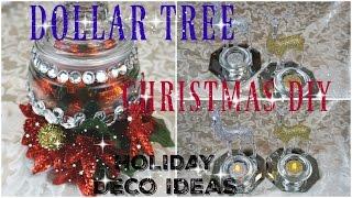 DOLLAR TREE DIY CHRISTMAS DECOR 2016 PT.2   3 IDEAS FOR THE HOLIDAY   PETALISBLESS🌹