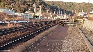 キハ187系4両編成2002D特急スーパーまつかぜ2号鳥取行き 青谷駅通過