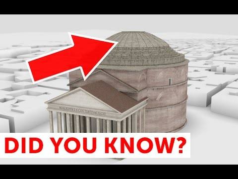 Pantheon of Rome. Mystery of ancient Roman architecture in 3D