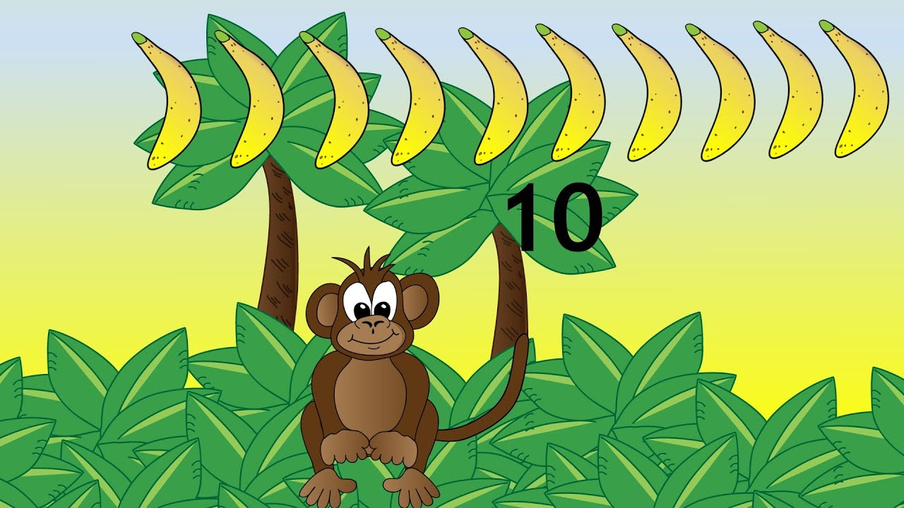 Monkey Numbers 1 To 10 Count With The Monkey Numbers 1 To