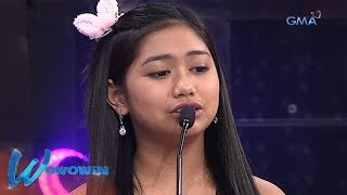 Wowowin: Dalagang singing champion, nais maging all-around artist
