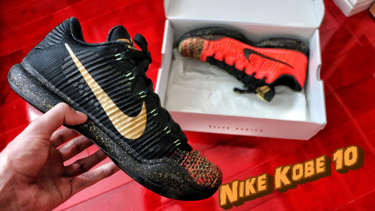 Nike Kobe 10 Elite Low Christmas - Review + On Foot - YouTube
