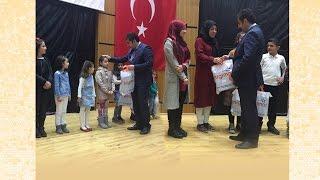 Midyat'ta İstiklal Marşı'nı en güzel okuyanlara ödül